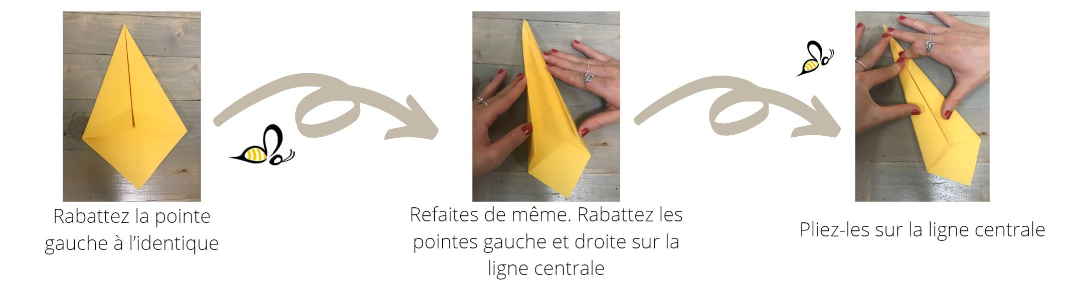 Explication du pliage de la cravate de la carte cadeau à offrir pour votre papa